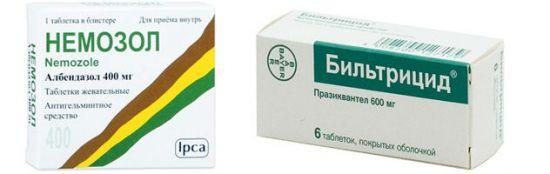 Препараты для лечения описторхоза